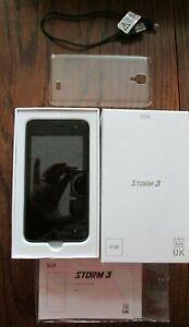 """STK Storm 3 - 8Gb 4"""" 3G Black Mobile Phone UK Design - Spares Or Repairs"""