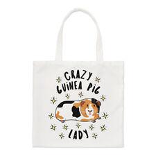 Crazy Guinea Pig Lady Stars Small Tote Bag - Funny Animal Shoulder