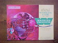 WATKINS PRODUCTS-Catalog-New York World's Fair-1964