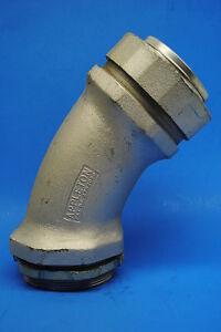 """Appleton # ST-45400    4"""" Malleable Iron 45°  Liquidtight Conduit Connector"""