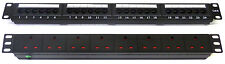 "CAT6 19 "" 24 porte Patch Panel + 8 VIE unità di alimentazione, Comms dati Rack Armadietto di rete"