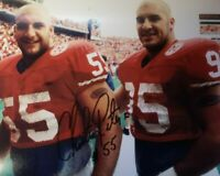 NEBRASKA FOOTBALL CHRISTIAN PETER #55 / JASON PETER #95 SIGNED PETERBILT HUSKER