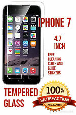 i phone 7 screen tempered glass protector with free cleaning cloth. Free p+p.