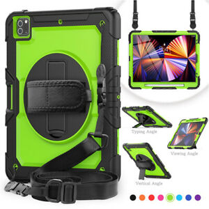Shockproof Heavy Duty Armor Strap Case Cover For iPad Pro 11 12.9 2021 Tablet PC