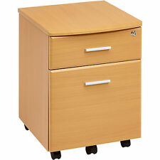 Solid Hardwood Quality 2 Drawer A4 Suspension Filing Pedestal Home Office PC