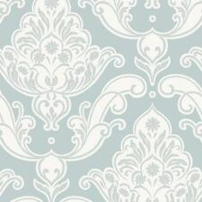 Rasch - Gatsby Damask & Floral Motif - In Duck Egg - Glitter Wallpaper 319606
