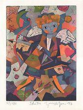 """Gerhard Hofmann, """"tireur"""", 1997 zodiaque, Gravure daté"""
