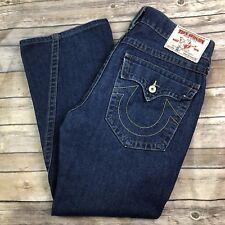 $225 True Religion Men's 33 Joey 100% Cotton Blue Flap Pocket Boot Cut Jeans