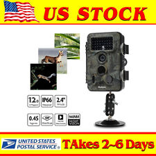 42Pcs LEDs Night Vision Infrared 12MP Animal Hunting Trail Camera Video Scouting