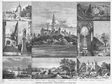 Częstochowa, Tschenstochau, Polen, Kloster, Sammelblatt Orig.-Holzstich ca.1880