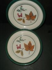 2 Hartstone Pottery USA Autumn Leaf FOREST Salad Plates- Set of Two