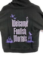 Authentic Disney Parks Haunted Mansion 'Welcome Foolish Mortals' Hoodie Adult XS