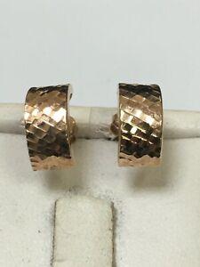 Fabulous 9 Carat Rose Gold Stud Earrings
