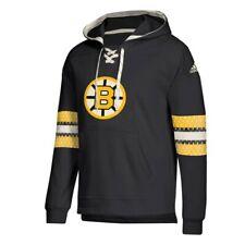 Boston Bruins NHL Adidas Men's Black Team Logo Pullover Hockey Jersey Hoodie
