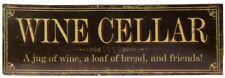 vintage wine cellar sign metal shabby chic wall plaque bar pub club