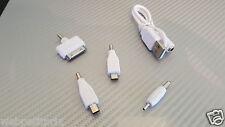 CÂBLE USB 4 en 1 - Iphone /Micro Usb / Mini usb- BLANC - 27 cm - NEUF