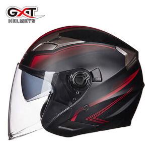 GXT G708 Motorcycle Helmet Doul Lens Open Face Sun Protection Motocross Helmets