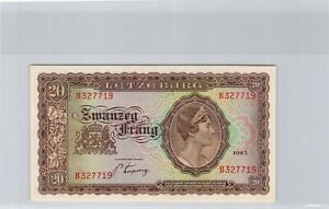 Luxembourg 20 Francs 1943 n° B327719 Pick 42a