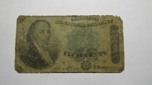 1874 $.50 Fourth Issue Fractional Currency Obsolete Bank Note Bill! Dexter 4th