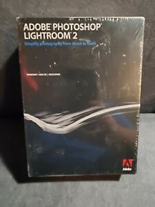 Adobe Photoshop Lightroom 2 for PC & Mac Brand New Never Opened Sealed Box