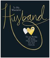 Wonderful Husband Black & Gold Birthday Card 243634