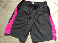 Men's Champion Swimming Bathing Suit Trunks Black Pink Sz L Large bx24
