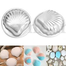 2Pcs Set Shell Aluminium Metal Bath Bomb Mold Fizzy Crafting DIY Cake Mould Tool