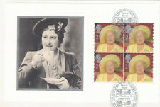 (54885) GB Used Queen Mother 100th Birthday FULL Booklet Pane 2000 ON PIECE