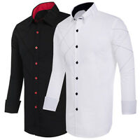 Mens Collection Business Designer Sexy Men's Slim Fit Dress Formal Casual Shirts