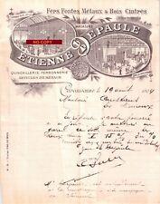 Beau Document du 19/08/1904 ETIENNE EPAULE Quincaillerie - Carcassonne 11