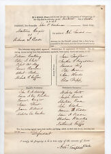 signed 1838 New York court document - Schenectady County - Archibald Campbell