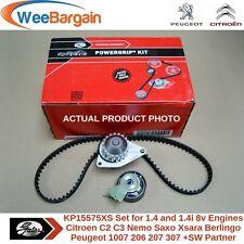 CITROEN PEUGEOT 1.4 1.4i 8v Genuine GATES KP15575XS Timing Belt Kit Water Pump
