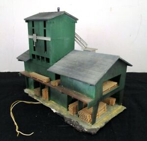 Pola N Scale Valley Lumber Yard/Mill Building - Lighted & Assembled - NICE!
