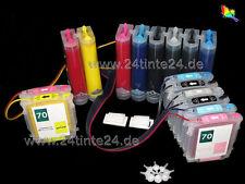 CISS PER HP 70 hp70 DesignJet z2100 Z 2100 8 color pigmento hp-70 c9449a cb340a X