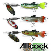 Allcock Flo-Fish Minnow - Life-Like Fish & Spinner Big Predator Lure 13.5cm/13g