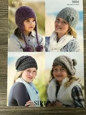 One Size Sirdar Fizz Knitting Pattern: Ladies Hat Shawl /& Bag 8477 Chunky