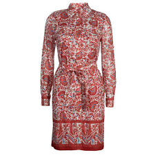 Tory Burch Bridgette Shirt Dress  12 XL Red Madura RARE + SUPER CUTE