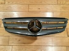 MERCEDES AMG C CLASS SILVER 2007-2014 FRONT W204 SPORT GRILL C200 C220 C320 C180