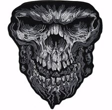 Evil Skull Patch Death Large Motorcycle Jacket Biker Embroidered Iron On 11""