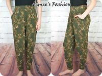 NEXT UK 8 LADIES DITSY FLORAL TROUSERS TAPERED STRETCH NEW 789