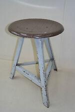 Old garage tabouret, designer tabouret, bois métal vintage tabouret de bar art deco