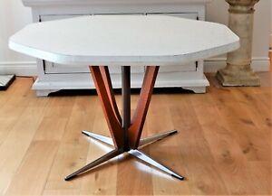 1970's NAMCO Mid-Century modern -Teak ,Formica and steel sputnik dining table