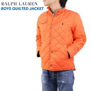 Polo Ralph Lauren Boys Quilted Jacket Coat - Orange -