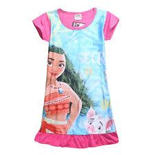 US Moana Film Kid Girls Party Dress Night Skirt Summer Pajamas Nightwear Clothes