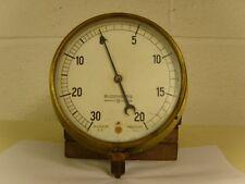 "Budenberg 6"" Brass Combined Pressure Vacuum Gauge -30hg/+20lb sq inch"