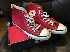 Brick Red Converse High Tops M Size 8