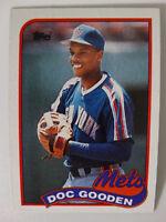 1989 Topps Dwight Gooden Doc New York Mets Wrong Back Error Baseball Card