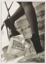 TOWER RECORDS 1998 Go Card Rack Postcard Black Stiletto High Heels Pumps