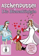 Kinder DVD Aschenputtel und Die Bienenkönigin - animiertes Märchen Bilderbuch