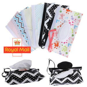 Easy Carry Wet Wipes Bags Napkin Storage Box Case Cosmetic Pouch Snap-Strap